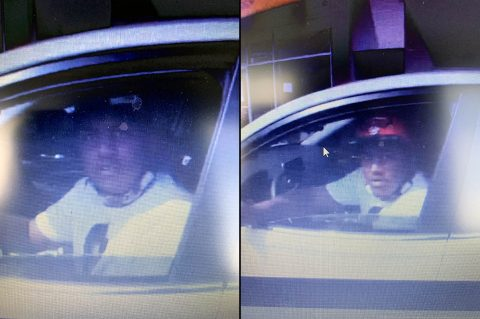 Montgomery County Sheriff's Office is looking for the person in these photos in connection with the theft of a 2020 Nissan Maxima.