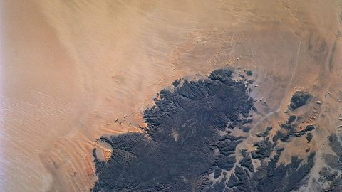 Deserts like the Sahara harbor fresh water aquifers that can be affected by Earth's changing climate. The OASIS study project seeks to a establish a mission that would find and examine those aquifers. (NASA)
