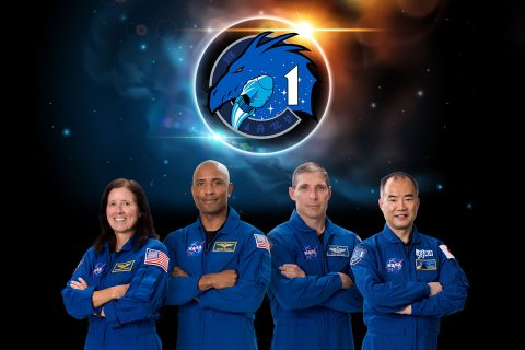 The SpaceX Crew-1 official crew portrait with (from left) NASA astronauts Shannon Walker, Victor Glover, Mike Hopkins, and JAXA (Japan Aerospace Exploration Agency) astronaut Soichi Noguchi. (NASA)
