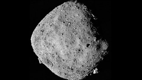 This mosaic image of asteroid Bennu is composed of 12 images collected on Dec. 2, 2018, by the OSIRIS-REx spacecraft's PolyCam instrument from a range of 15 miles (24 kilometers). (NASA/Goddard/University of Arizona)
