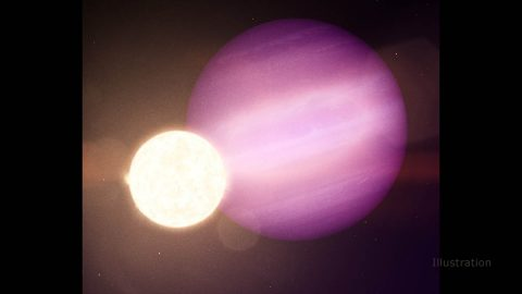 WD 1856 b, a potential planet the size of Jupiter, orbits its dim white dwarf star every 36 hours and is about seven times larger. (NASA's Goddard Space Flight Center)