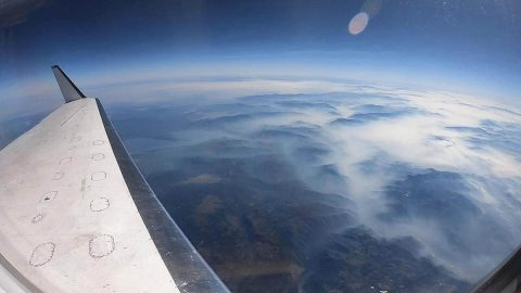 A NASA aircraft equipped with Uninhabited Aerial Vehicle Synthetic Aperture Radar (UAVSAR) flew above California fires on Sept. 3 and 10 to examine the ground below. (NASA/JPL-Caltech)