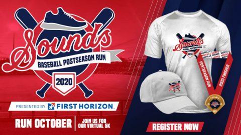 Nashville Sounds 3.1-Mile Virtual Run to Take Place During Major League Baseball's Postseason. (Nashville Sounds)