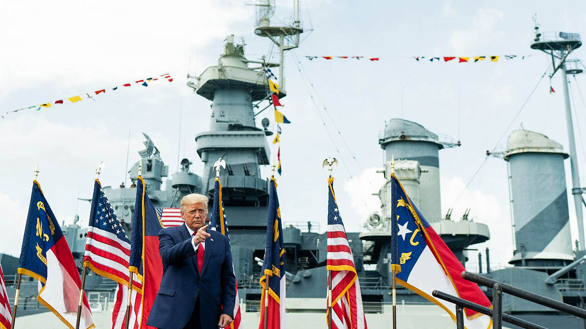 President Donald Trump designates Wilmington, N.C. as first World War II Heritage City. (White House)
