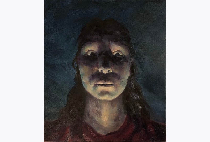 Youth Best in Show- Grace Sutt, Self Portrait in a Power Outage.