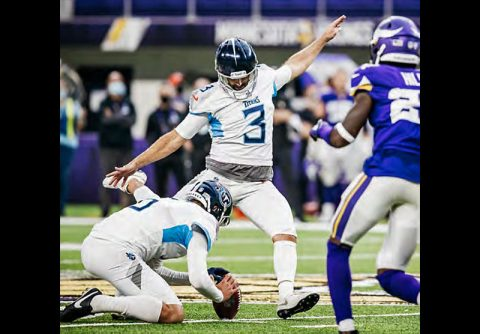 Stephen Gostkowski's 55-yard game-winning field goal lifted the Tenenssee Titans to a 31-30 victory last week against the Minnesota Vikings. (Tennessee Titans)