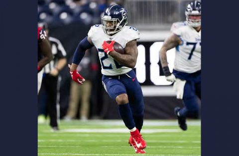 Tennessee Titans running back Derrick Henry rushed for two touchdowns last week in 42-16 win over the Buffalo Bills. (Tennessee Titans)
