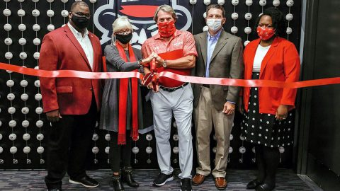 Austin Peay State University held a  Virtual Ribbon-Cutting for the Downey Baseball Operations Center and Clubhouse, Friday. (APSU Sports Information)