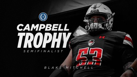 Austin Peay State University Football's Blake Mitchell named semifinalist for NFF Campbell Trophy. (APSU Sports Information)
