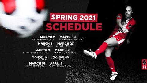 Austin Peay State University Soccer 2021 Schedule. (APSU Sports Information)