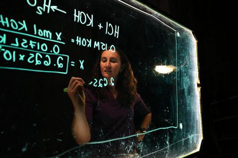 Dr. Leslie Hiatt plans to expand her light board into upper-level classes. (APSU)