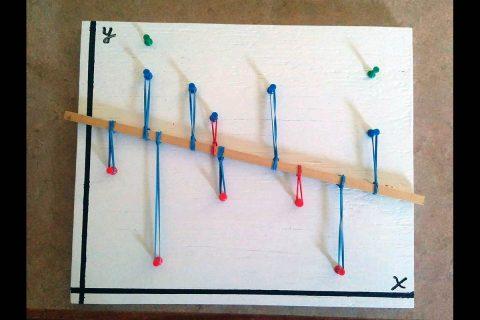 Ligo built this model to teach linear regression. (APSU)
