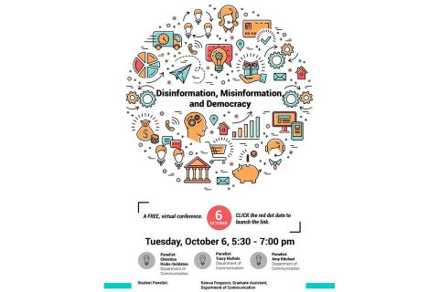 "On Tuesday, October 6th, Austin Peay State University will hold a Free virtual Conference on ""Disinformation, Misinformation and Democracy"". (APSU)"