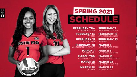 Austin Peay State University Volleyball announces 2021 Spring Schedule. (APSU Sports Information)