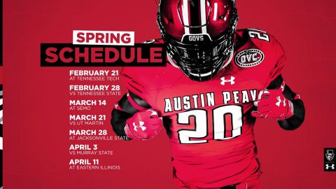 The Austin Peay State University spring football schedule includes three home games and four away games. (APSU Sports Information)