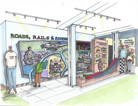 Customs House Museum AREA 5 Roads,Rails & Rivers Color