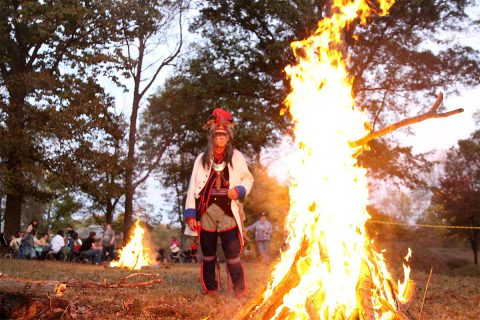 A bonfire and ghost stories highlight Halloween at Fort Defiance.