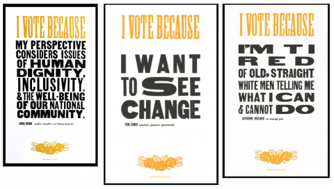Hatch Show Print to celebrate 'I Vote Because …'