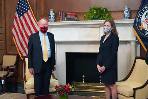 U.S. Senator Lamar Alexander met with Supreme Court Justice Nominee Judge Amy Coney Barrett this week in the U.S. Capitol.