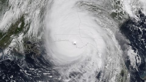 NOAA's GOES-East satellite captured this image of Hurricane Michael as it came ashore near Mexico Beach, Florida, on Oct. 10, 2018. (NOAA)