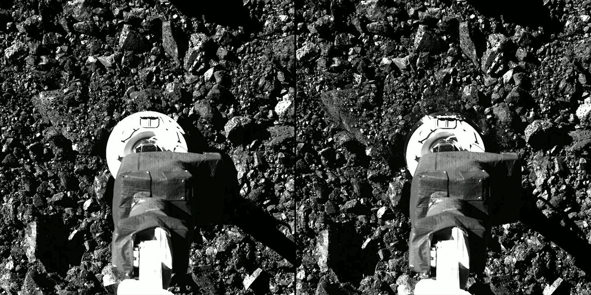 NASA releases new images to show historic landing, sample collection on asteroid
