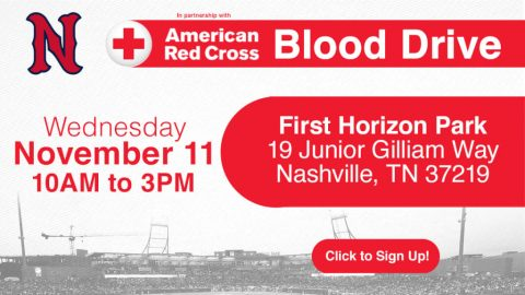 Nashville Sounds to Host Blood Drive at First Horizon Park. (Nashville Sounds)