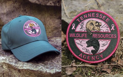 TWRA Pink Hat and Pink Patch for Breast Cancer Awareness Month