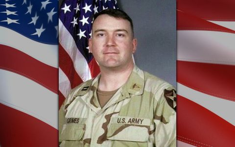 U.S. Army Capt. Sean P. Grimes was a physician assistant serving in Iraq with the 2nd Infantry Division when he and three Soldiers from his unit were killed when an improvised explosive device exploded near their vehicle March 4th, 2005. The Captain Sean P. Grimes Physician Assistant Training Center at Blanchfield Army Community Hospital, Fort Campbell, Kentucky was named in his honor in 2011. During this year's observance of Physician Assistant Week, Oct. 6th to 12th, Blanchfield staff remembered Grimes, who completed his clinical rotations here. (U.S. Army)