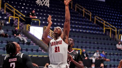 Austin Peay State University Men's Basketball senior Terry Taylor had 21 points and 12 rebounds in win over Omaha Mavericks, Wednesday. (APSU Sports Information)