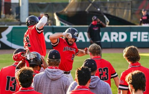 Austin Peay State University Baseball's Red Team gets Red-Black World Series opening win. (APSU Sports Information)