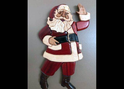 A sculpture of Santa Claus. (APSU)