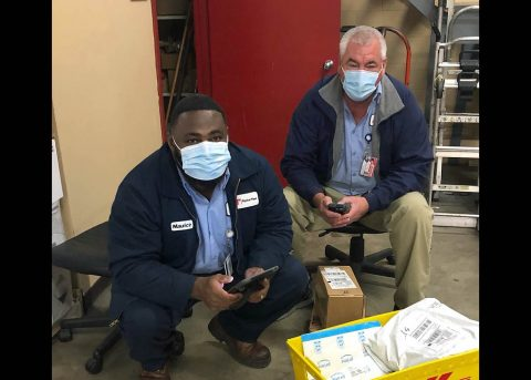 Austin Peay State University Physical Plant employees Maurice and Jimmy. (APSU)
