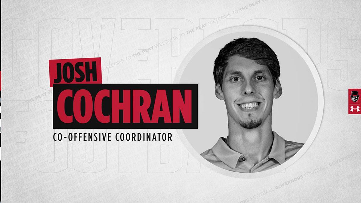 Austin Peay State University Football hires Josh Cochran as co-Offensive Coordinator. (APSU Sports Information)