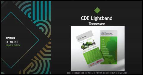 Award of Merit - Print & Digital -- CDE Lightband