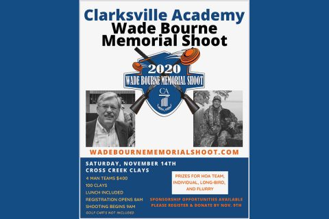 2020 Clarksville Academy Wade Bourne Memorial Clay Shoot