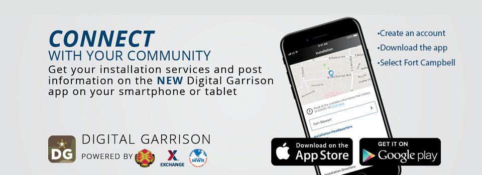 Digital Garrison app for Fort Campbell