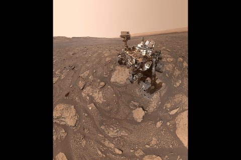 "NASA's Curiosity Mars rover took this selfie at a location nicknamed ""Mary Anning"" after a 19th century English paleontologist. Curiosity snagged three samples of drilled rock at this site on its way out of the Glen Torridon region, which scientists believe preserves an ancient habitable environment. (NASA/JPL-Caltech/MSSS)"