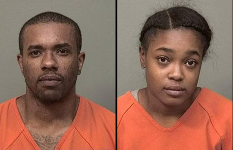(L to R) Richard Kenny Woodson and Deshaya Allem were arrested by Clarksville Police for the drive by shooting on Roselawn Drive.