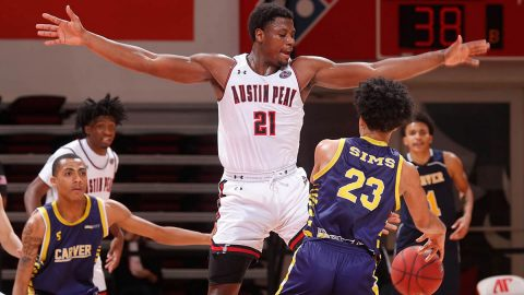 Austin Peay State University Men's Basketball gets 102-38 win over Carver at the Dunn Center Friday night. (APSU Sports Information)