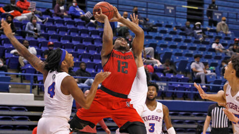 Austin Peay State University Men's Basketball guard Reginald Gee had 20 points in victory over Tennessee State Wednesday night. (APSU Sports Information)