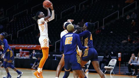 Tennessee Lady Vols Basketballl rolls over UNCG at Thompson-Boling Arena, 66-40. (UT Athletics)