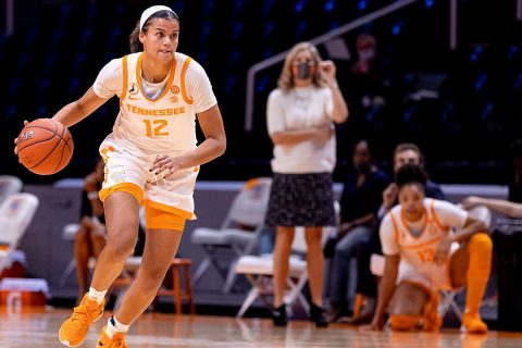 Tennessee Women's Basketball junior Rae Burrell had a career high 26 points in win over Furman Thursday night at Thompson-Boling Arena. (UT Athletics)