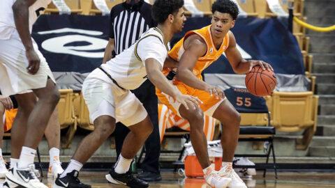 Tennessee Men's Basketball takes down Missouri on the road, 73-53. (UT Athletics)
