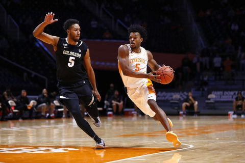 Tennessee Men's Basketball sophomore Josiah-Jordan James had 8 points, 6 rebounds, 3 assists and 3 steals in win over Colorado Buffaloes, Tuesday. (UT Athletics)