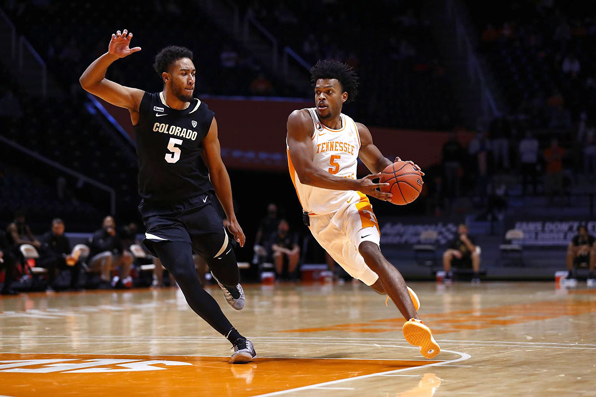 Tennessee Men's Basketball sophomore Josiah-Jordan James had 8 points, 6 rebonds, 3 assits and 3 steals in win over Colorado Buffaloes, Tuesday. (UT Athletics)