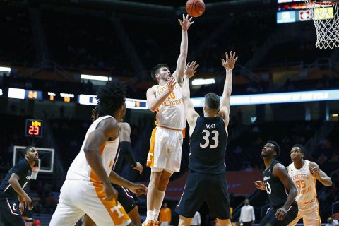 Tennessee Men's Basketball senior John Fulkerson led the Vols with 15 points Saturday against Cincinnati Bearcats. (UT Athletics)