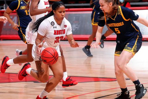 Austin Peay State University Women's Basketball loses heartbreaker to Chattanooga, 65-64. (APSU Sports Information)