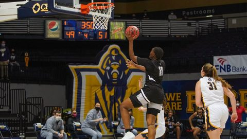 Ausitn Peay State University Women's Basketball takes down Murray State, 64-60. (APSU Sports Information)