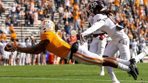 Tennessee Vols football team falls to #5 Texas A&M Saturday afternoon at Neyland Stadium, 34-13. (UT Athletics)