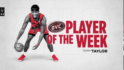 Austin Peay State University Men's Basketball senior Terry Taylor named OVC Player of the Week. (APSU Sports Information)